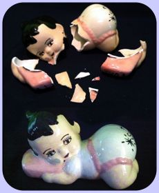 deco style money box doll