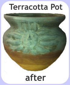 repaired terracotta pot