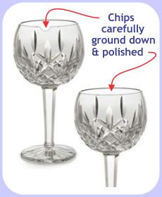 chipped waterford crystal