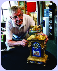 John Wakefield with Sevres Clock
