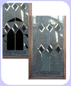 Beveled glass door panel repaired