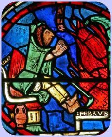 Medieval-style stained glass